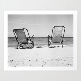 Beach Life - Gone Swimming Art Print