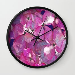 KOREAN DOGWOOD FLORAL COLLAGE Wall Clock