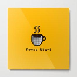 8-Bit Coffee Metal Print