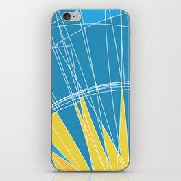 Abstract pattern, digital sunrise illustration iPhone Skin