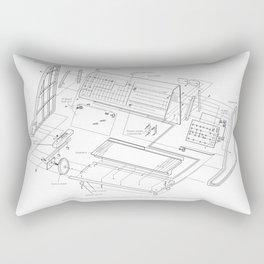 Korg MS-20 - exploded diagram Rectangular Pillow