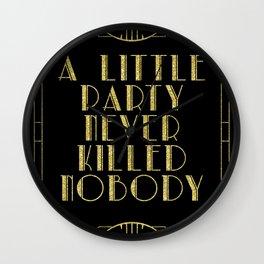 A little party - black glitz Wall Clock