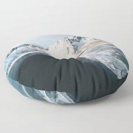 Iceland Mountain Beach - Landscape Photography Floor Pillow