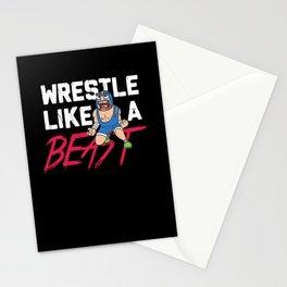 Funny Wrestling Shirts I kayfabe wrestle gift Stationery Cards