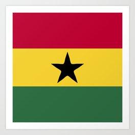 Ghana flag emblem Art Print