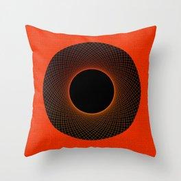 Tangerine Vortex Orange Throw Pillow