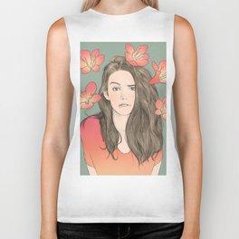 Girl with Flowers Biker Tank