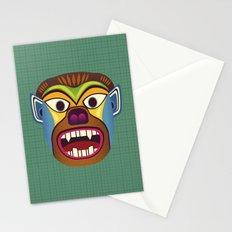 Gorilla ethnic mask Stationery Cards
