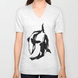 Orca Yin Yang Unisex V-Neck