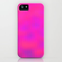 Blurry pink glass iPhone Case