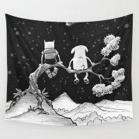 jake Wall Tapestries featuring finn & jake by jasminevn