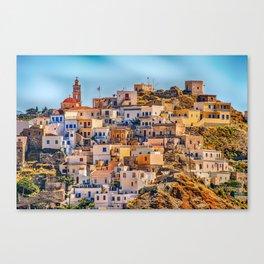 Greek Village On Karpathos Island Canvas Print