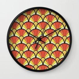 Radiant Sunshine Art Deco Pattern Wall Clock
