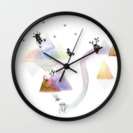 Things in the Mountains Wall Clock