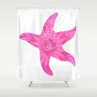 hawaiian Shower Curtains featuring Hawaiian Starfish by Teresa Chipperfield Studios