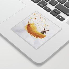 Air Feather • Yellow Feather (horizontal) Sticker