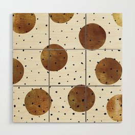 Mixed Dots Wood Wall Art