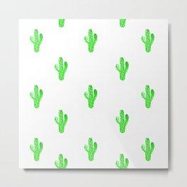 Cacti Party! Metal Print