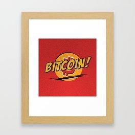 Bitcoin red Tataaa Framed Art Print