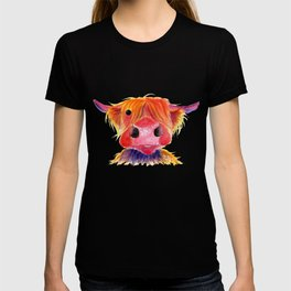 Scottish Highland Cow ' HeRbiE ' by Shirley MacArthur T-shirt