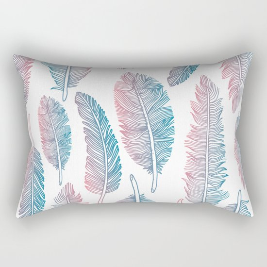Boho feathers Rectangular Pillow