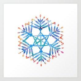 hanukkah menorah flake Art Print