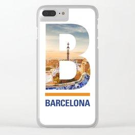 B-arcelona Clear iPhone Case