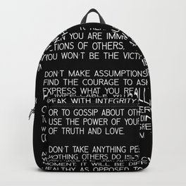 The Four Agreements #minimalist 2 Backpack