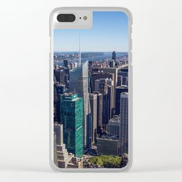 New York City at Empire State Building Clear iPhone Case