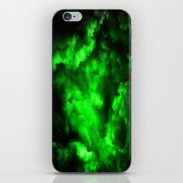 Envy - Abstract In Black And Neon Green iPhone Skin