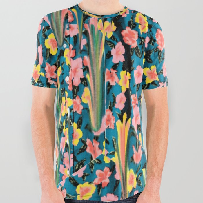 MELTED_FLOWERS_All_Over_Graphic_Tee_by_Chris_Bigalke__Large