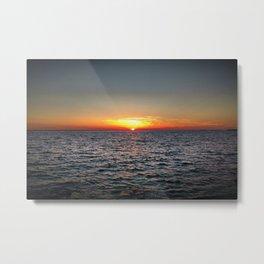 summer sunset at peroj beach croatia istria Metal Print
