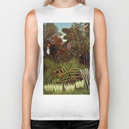 "Henri Rousseau ""Exotic landscape"", 1908 Biker Tank"