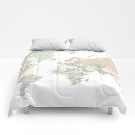 "World map with cities, ""Anouk"" Comforters"