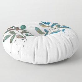 Watercolor Plants Floor Pillow