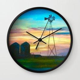 Amarillo by Morning Wall Clock