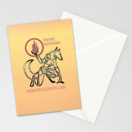 Breast Cancer Awareness Werewolf Knot Stationery Cards