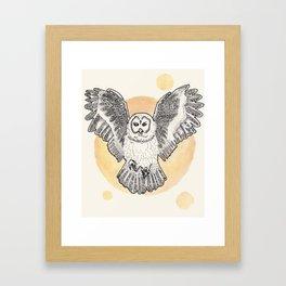 Owl Be Back Framed Art Print
