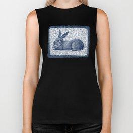 Rabbit print, Vintage Rabbit, Animal Wall Art Biker Tank