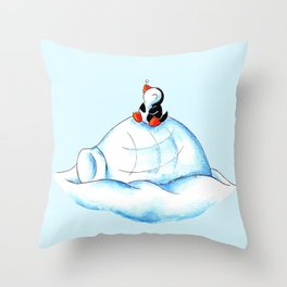 Home Sweet Igloo (South Pole) Throw Pillow