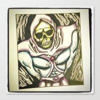 skeletor Canvas Prints featuring skeletor by JaclynGarrett