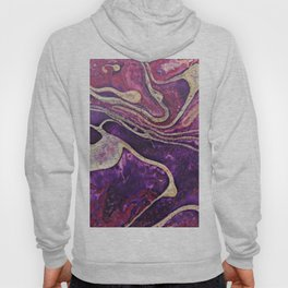 Purple and Gold Contemporary Marble Art Hoody