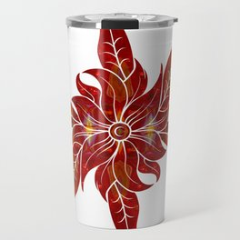 Red Flower Fantasy Designs Abstract Holiday Art  Travel Mug