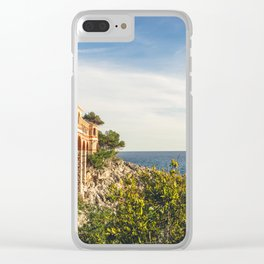 Seacoast of Cap Martin in a sunny winter day Clear iPhone Case
