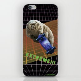 Tardigrade EXTREME 80's Space Skateboard iPhone Skin