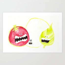 Attack of the Killer Caprese Art Print