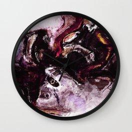 Purple Abstract Art / Surrealist Painting Wall Clock