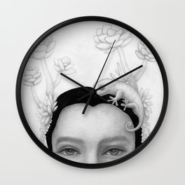 Chameleon Woman Wall Clock