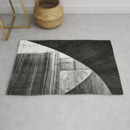 Stone Circle Meets Square Concrete Abstract Rug