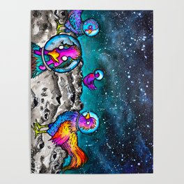 Space Chickens Poster